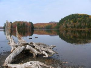 Cherry Lake in Mont Orford national park